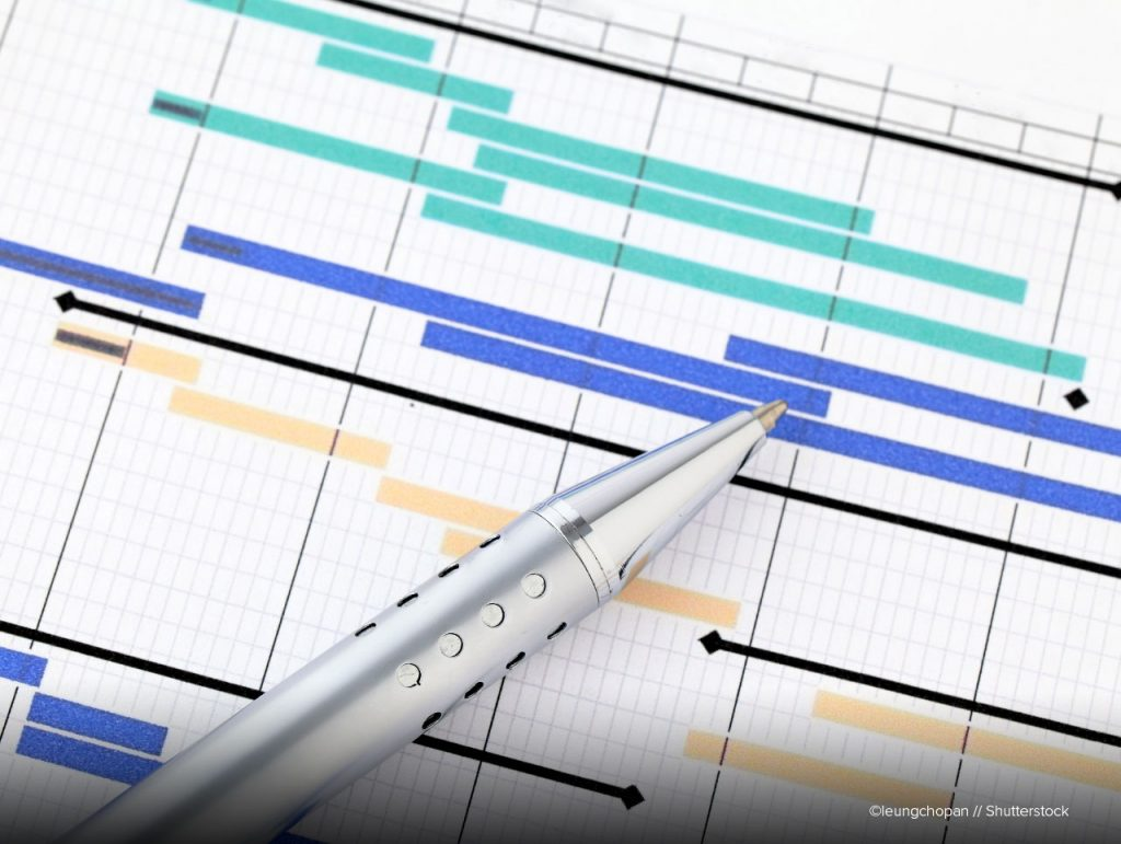 Gantt Diagramm Projektablaufplan