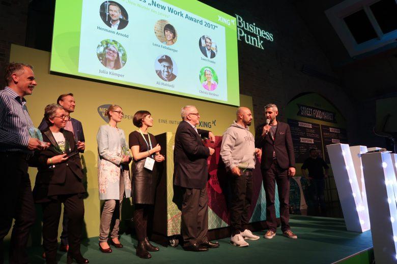 Ali gewinnt den New Work Award 2017